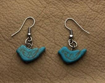 Turquoise Bird Earring