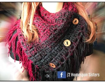 Handmade scarf,  Cowl Wool Snood Chunky Cowl Womens Scarf Gift for her Shrug Handmade Crochet Scarf Women's Scarf