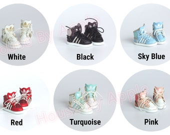 Doll shoes/Sport shoes/Sneaker/Hi-top shoes for Blythe/Lati Yellow/DAL/Pullip/Azone/momoko/Jerryberry/pukifee/licca/middie Blythe/OB11