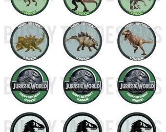 Jurassic World Cupcake Toppers Set (Digital)