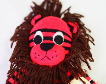 Sock animal Sock lion Sock monkey Plush toy lion Gift for children Lion softie Lion baby shower gift Lion stuffed animal Nursery decor gift