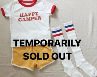 SOLD OUT children's happy camper ringer tee