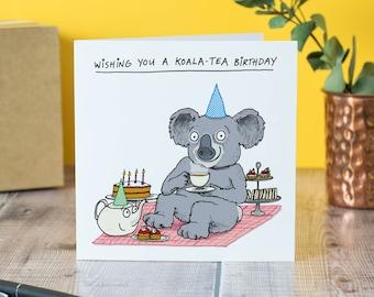 Koala-Tea birthday card