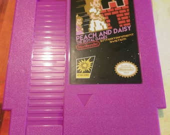 Peach & Daisy - The Royal Games Reproduction NES Cartridge w/ Dust Cover *NEW*