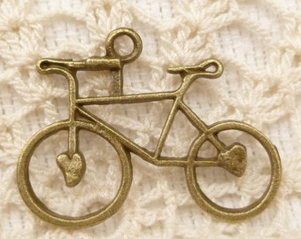 Bicycle Charms , Bike Antique Bronze (6) - A83
