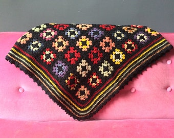 Antique Granny Square Afghan