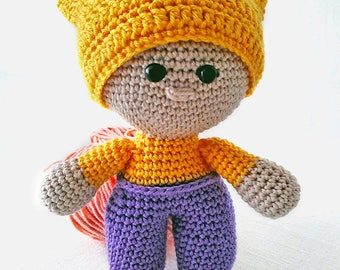 Amigurumi crochet doll - FREE SHIPPING