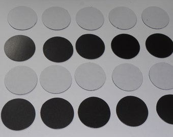 One Inch Diameter Flexible Self Adhesive Magnets - 50  Pieces