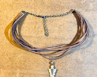 Choker leather necklace