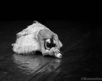 Ballerina Photo in Black & White, Russian Dancer Performing the Dying Swan in St Petersburg, Russia. Fine Art Print A4 (210mm x 297mm) #6