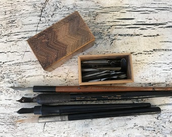 Lot of vintage Calligraphy Pens and Tips