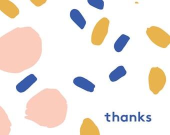 THANKS Greetings card w/ envelope