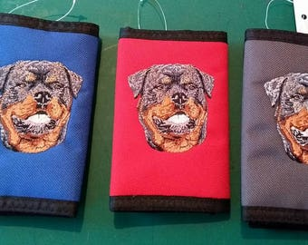 Embroidered Rottweiler Wallets