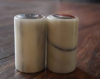 Marble Salt and Pepper Shakers