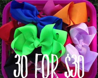 6 Inch Boutique Style Hair Bows