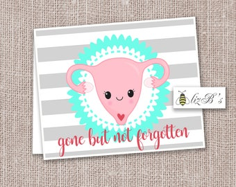 Hysterectomy Get Well Soon Card PRINTED