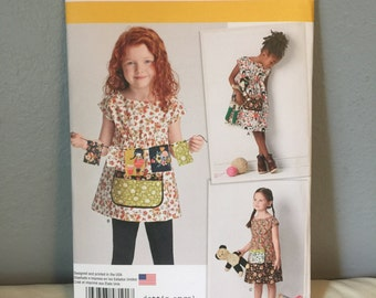 Simplicity Sewing Pattern 8101 Childrens Girls Dottie Angel Dress or Tunic All Sizes 3 4 5 6 7 8