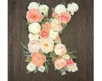 Floral Letters Shower, Wedding, Decor