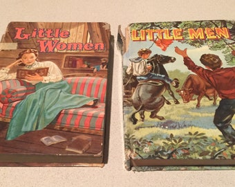 For Collectors:2-VTG 1955 Little Women and Little Men-Louisa May Alcott HC Children's Books