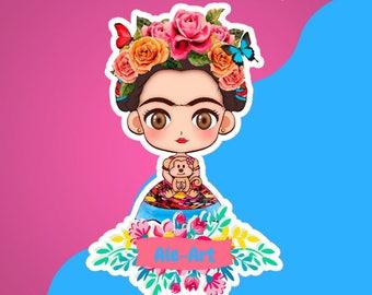 Printable Frida Cute Kit - Kit Imprimible Frida Cute - Instant Download - Descarga Instantánea