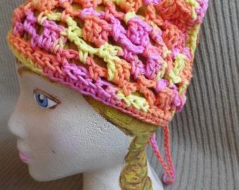 Neck Kerchief, Tie On Bonnet, USA Grown Cotton