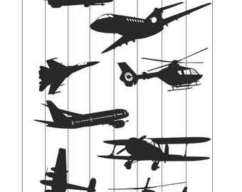 Airplanes Svg, Airplane silhouette, Airplane vectors, Airplanes dxf, cut files, Airplanes Clip art, png, Airplanes eps files for cricut
