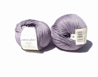 Rowan cotton glace yarn, purple yarn, Destash Yarn