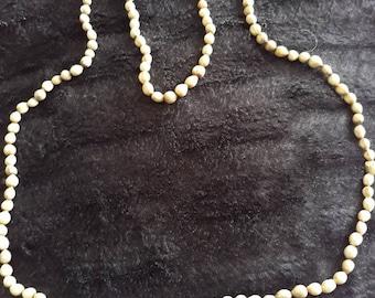 Vintage Extra Long 140cm Ceramic Beaded Necklace