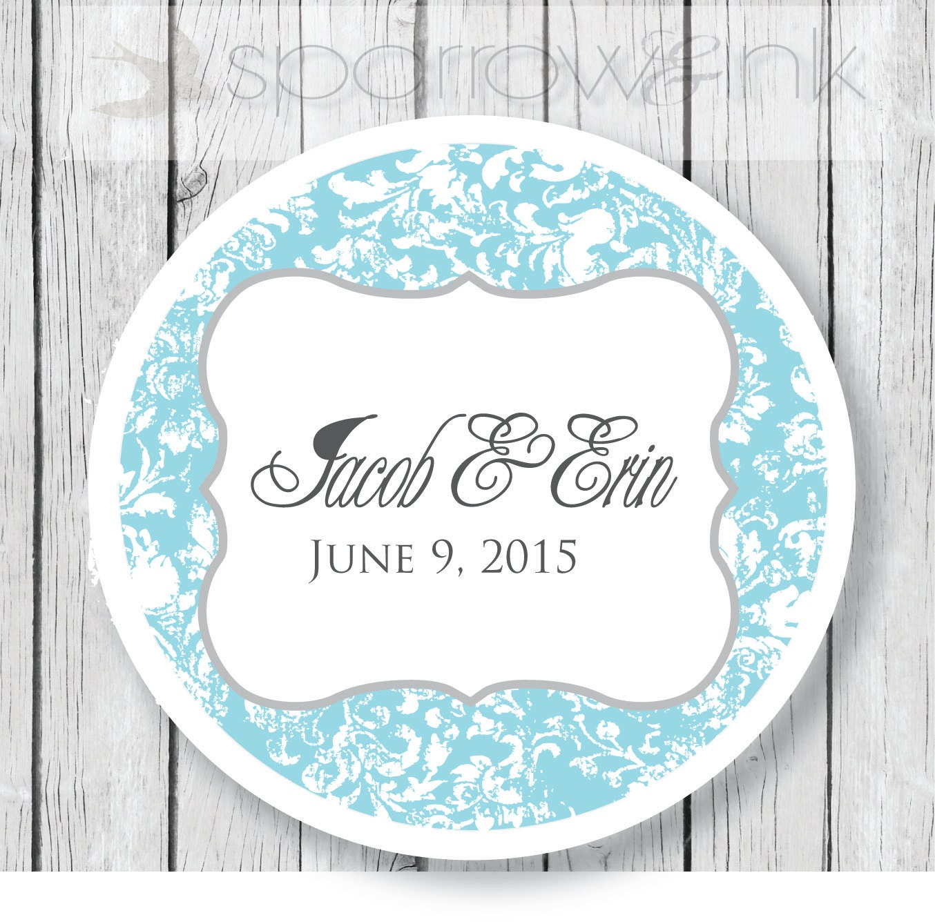 PRINTED 2 Custom Wedding Label for Mason Jar Stickers