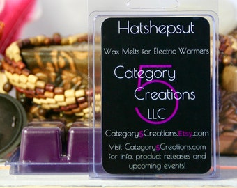 Hatshepsut Wax Melts for Electric Warmers - History's Not-Such-Mysteries Series - ParaSoy Wax Blend - Category 5 Original Blend