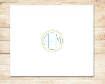 Fast Monogram Notecards - Monogram Stationery, Stationary