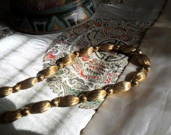 Vintage Golden Napier Necklace