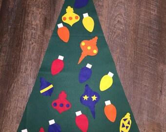 Toddler Felt Wall Christmas Tree