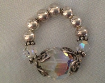 Vintage A B Crystal Ring