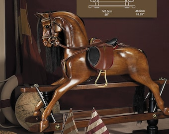 Victorian Rocking Horse - with choice of saddle