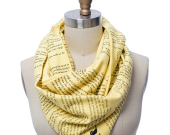The Wonderful Wizard of Oz Book Scarf - Infinity Scarf, Literary Scarf, Frank Baum, Book Lover, Books, Reading, Teacher Gift