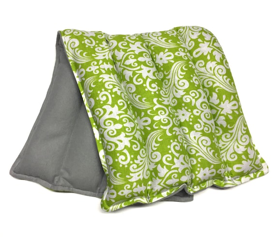 Microwaveable heating pad LARGE heat therapy rice bag, doula bag, spa,  cold therapy, flax seed, aromatherapy