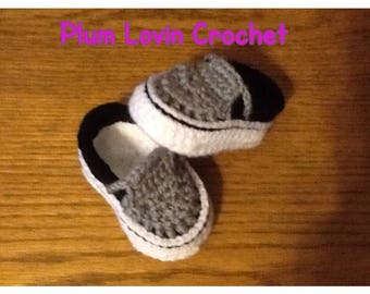 Crochet Vans style shoe
