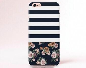 iPhone 7 Case Floral iPhone 6 Case iPhone 6 Plus case iphone Case navy iphone 6S Case 6S PLUS Samsung Galaxy S7 Case Floral Samsung S6 Case