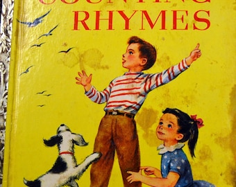 "Vintage Children's Book ""Counting Rhymes"" Little Golden Book  First Edition Last Minute Gift"
