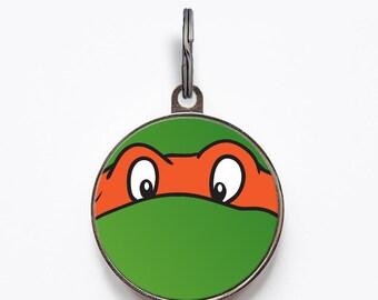 Orange Ninja Turtle Pet ID Tag | FREE Personalization