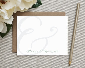 Personalized Stationery. Personalized Couples Stationery. Stationary / Note Cards / Notecards. Wedding Thank You Notes. Wedding. Ampersand.