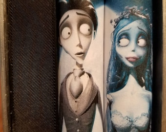 One Pair of 18650 Custom Battery Wraps - Corpse Bride