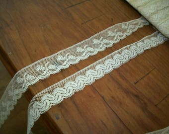 2 yds. of Antique lace by the yard val lace french origin 1920