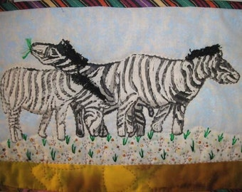 Out of Africa The Zebra mixed media original one of a kind
