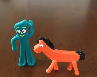 Gumby and Pokey miniature bendables in excellent condition!!