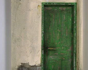 Green Door with Red Entry