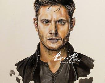 Portrait of Jensen Ackles as Dean Winchester (Supernatural)