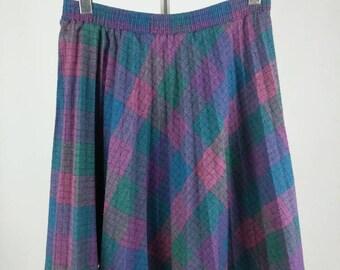 Vintage Sears Plaid Pleated Skirt