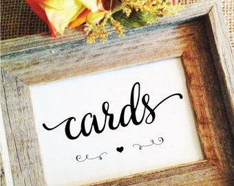 cards sign wedding (Lovely) heart (Frame NOT included)